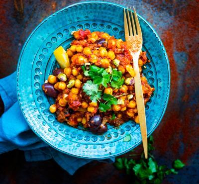 Marokańska Wegańska Potrawka Z Kiszoną Cytryną