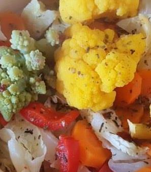 Bukiet warzyw z parowara.