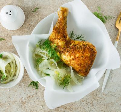 Udko z kurczaka z koprem włoskim
