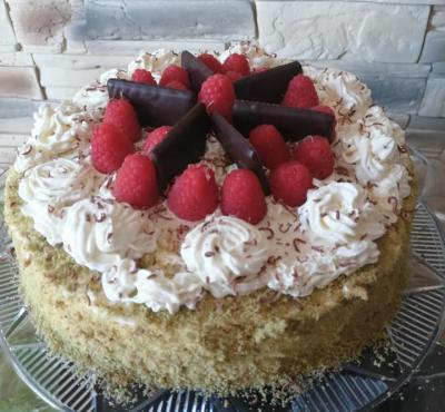 Tort herbaciano-miętowy.