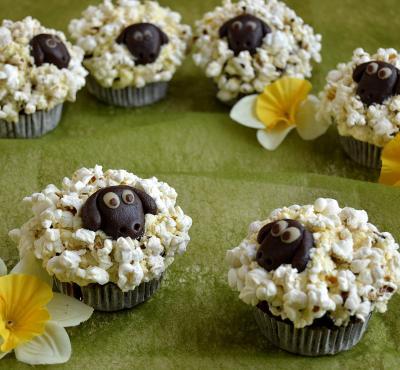 Wielkanocne muffinki- baranki