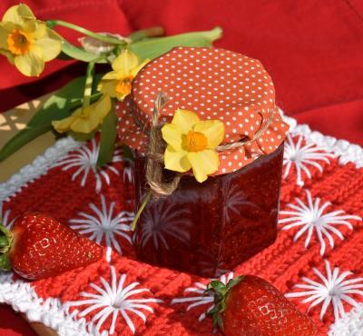 Konfitura truskawkowa z miętą